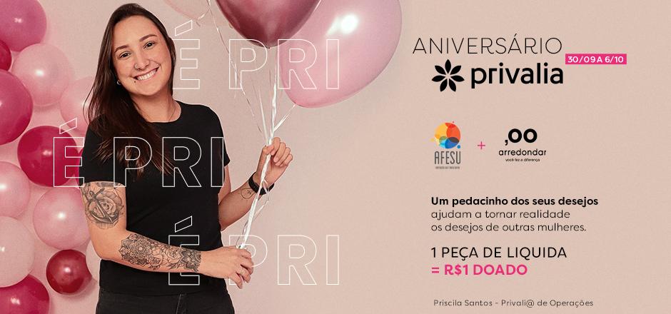 Aniversário solidário Privalia e Arredondar